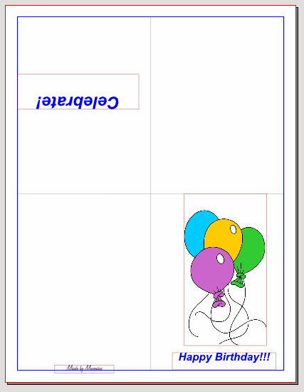 quarter fold birthday card template 28 images 4 best