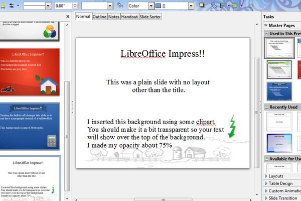 pclinuxos magazine - page 2, Template Libreoffice Presentation, Presentation templates