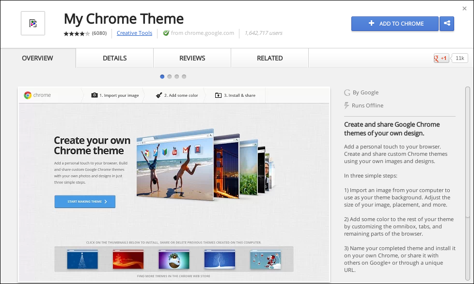 how to change the google homepage theme