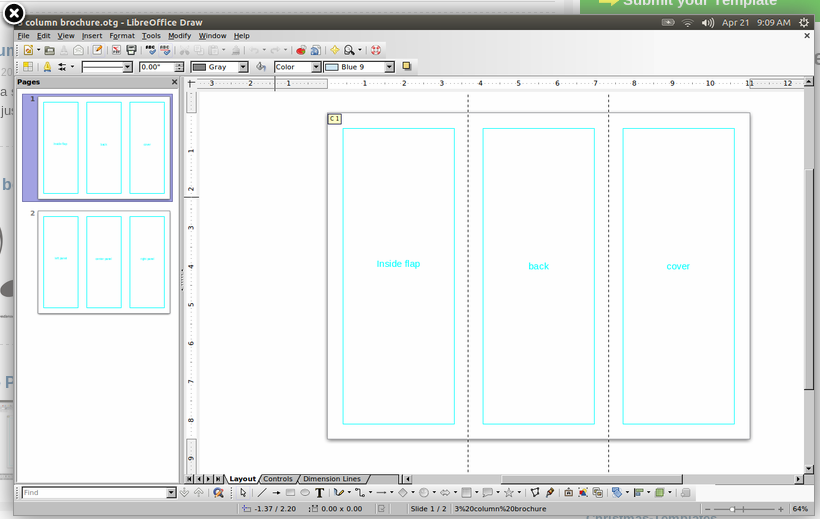 Libre office draw templates.