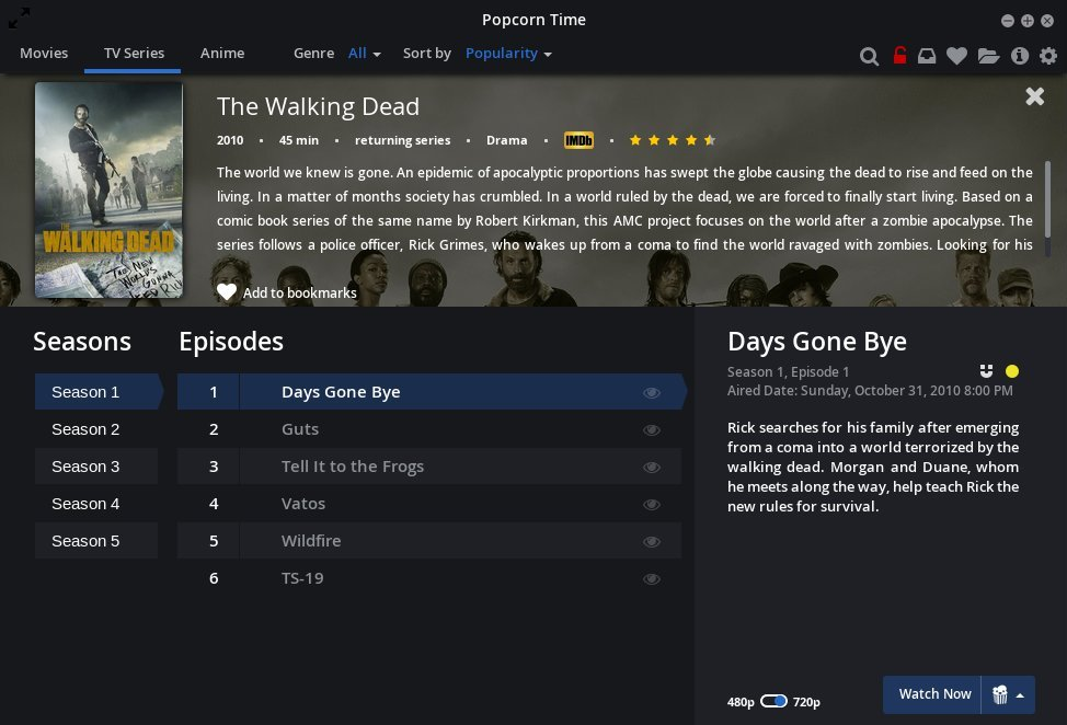 what does no available free space on disc mean on popcorn time